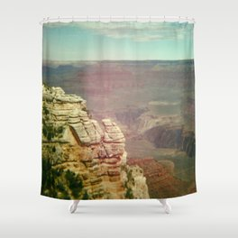 Tiny Man at the Grand Canyon Shower Curtain