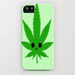 kawaii weed iPhone Case