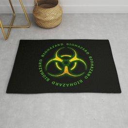 Biohazard Zombie Warning Rug