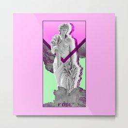 Etherwave, A Vaporwave Tarot - The Fool Metal Print