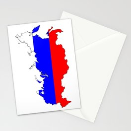 Russia Map with Russian Flag Stationery Cards