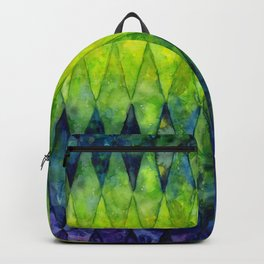Colorful Geometric Pattern Watercolor Backpack
