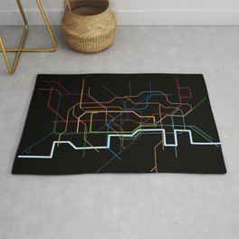 London Tube Map Rug