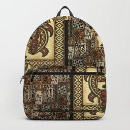 Hawaiian Tapa Cloth Backpack