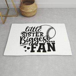 Little Sister Biggest Fan Baseball Rug