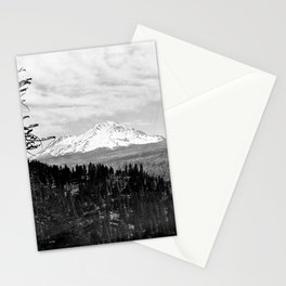 Mount Shasta, and neighboring mountain Shastina, Siskiyou County, ca.1900-1940 Stationery Cards