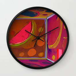 Virtual Experience of Tropical Flavors in the Projection Room Wall Clock