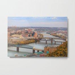 Monongahela River - Pittsburgh, Pennsylvania Metal Print