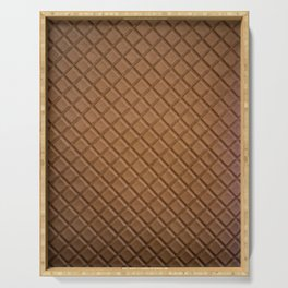 Chocolate brown leather lattice pattern - By Brian Vegas Serving Tray