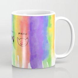 Three Rainbow Meows. Coffee Mug