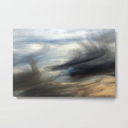 Stormy Cloudy Sky Abstract Metal Print