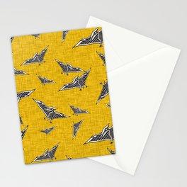 pterosaur flying dinosaur yellow Stationery Cards