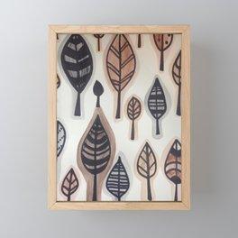 Les feuilles mortes Framed Mini Art Print