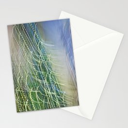 Abstract Lit Xmas Tree1 Stationery Cards