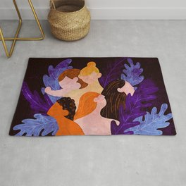 Together Strong - Abstract Female Figures Rug
