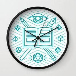 Dungeon Master Emblem Wall Clock