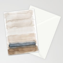Watercolor lines Stationery Cards