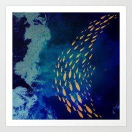 School of Gold Fish Art Print