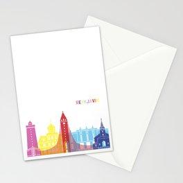 Reykjavik skyline pop Stationery Cards