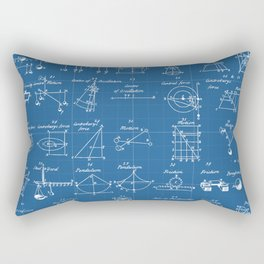 Table Of Engineering And Mechanics Blueprint Artwork Rectangular Pillow