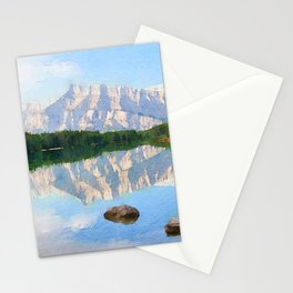 Lake watercolor painting #1 Stationery Cards