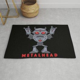 Metalhead - Heavy Metal Robot Devil - With Text Rug