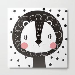 Polka Dot Lion Metal Print