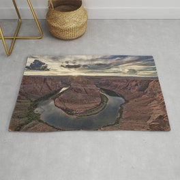 Picture Grand Canyon Park USA Colorado Horseshoe Bend Crag Canyon Nature park river Rock Cliff canyons Parks Rivers Rug