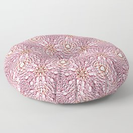 Luscious Rose Gold And Pink Floor Pillow