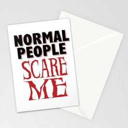 Sarcasm Crazy Nomal fear funny gifts Stationery Cards