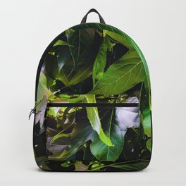 closeup tree with green leaves texture background Backpack
