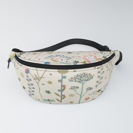 Abstract Botanical Artwork Fanny Pack