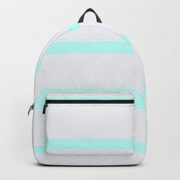 Modern pastel gray teal striped pattern Backpack