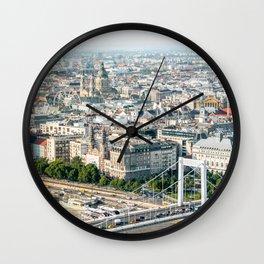 Budapest Skyline Wall Clock