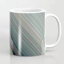 Decorative Colorful Green Blue Lines Design Coffee Mug