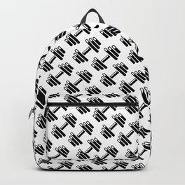 Dumbbellicious / Black and white dumbbell pattern Backpack