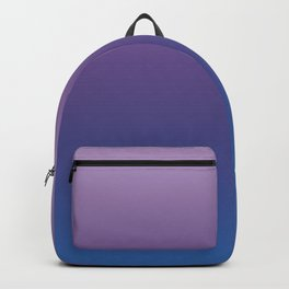 Ultra Violet Blue Lilac Ombre Gradient Pattern Backpack