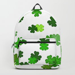Shamrocks Falling - Pattern for Saint Patricks Day Backpack