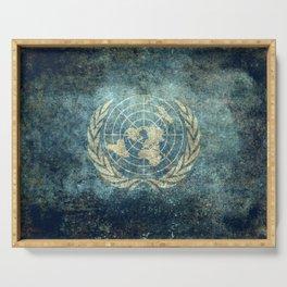 United Nations Flag - Vintage version Serving Tray