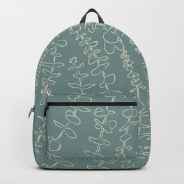 Round Eucalyptus Leaf Toss in Sage Green + Natural Backpack