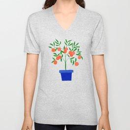 Little orange tree: potted plant VII Unisex V-Neck