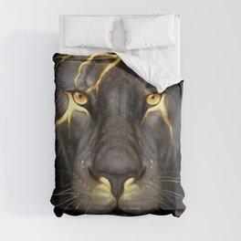 LION-GOLD-ART Comforters
