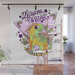 Iguana be a star Wall Mural