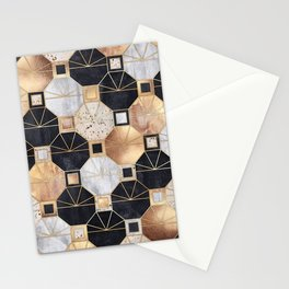 Art Deco Octagons Stationery Cards