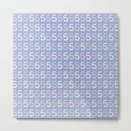 Lettering Number 5 Pattern Metal Print