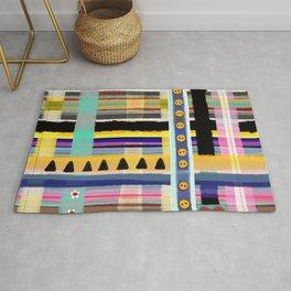 Patchwork beautiful textiles aesthetic kilt work effect Rug