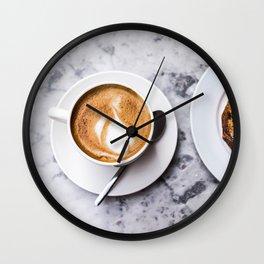 Delicious Warm Latte Wall Clock
