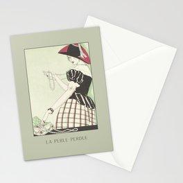 La perle perdue | Lost pearls | Historical Art Deco Fashion Illustration |  Stationery Cards