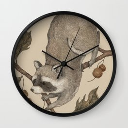 The Raccoon and Sycamore Wall Clock