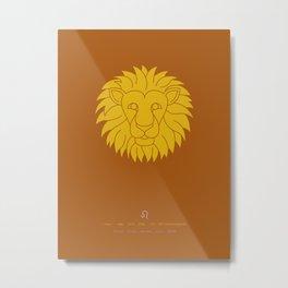 Leo Zodiac / Lion Star Sign Poster Metal Print